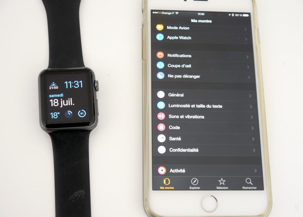 Il faudra paramétrer sa montre depuis l'iPhone.