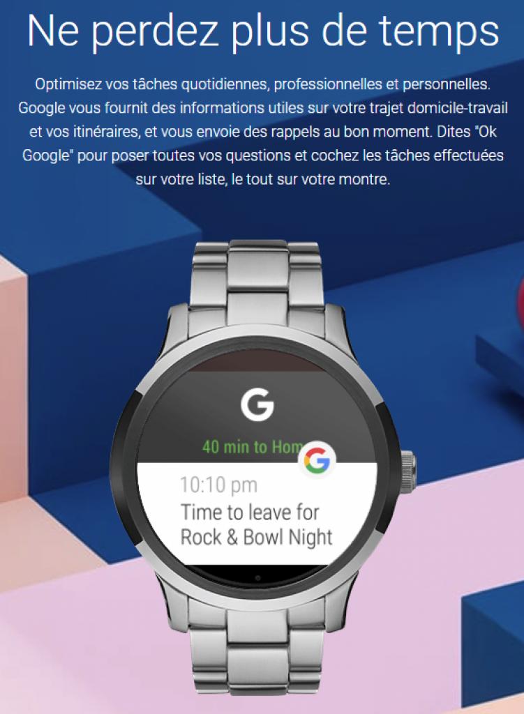 Fonctionnalités Android Wear