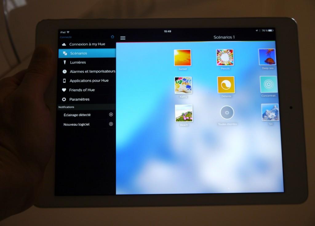 Pas mal d'options sont disponibles dans l'application Philips Hue