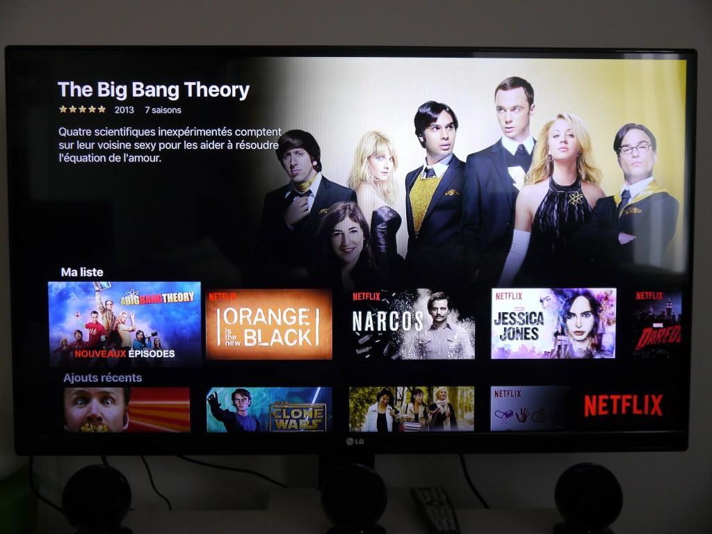 Accédez à Netflix avec une belle interface, très fluide.