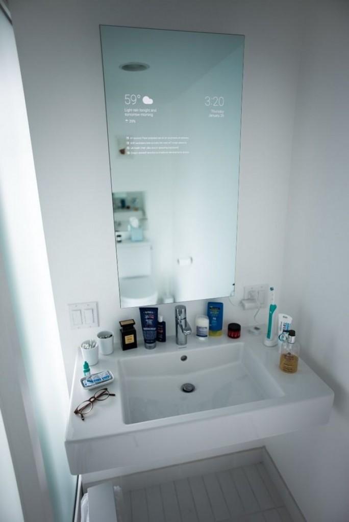 android mirror dans la salle de bain