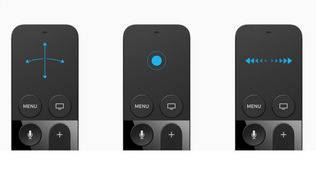 Des gestes sont disponibles avec le pavé tactile de la nouvelle télécommande
