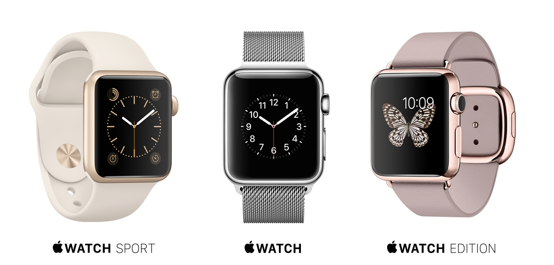 Comparatif gamme Apple Watch