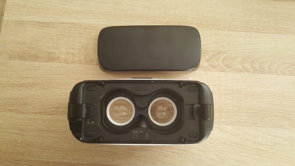 cache de protection du smartphone sur le Gear VR
