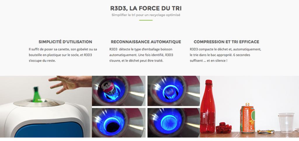 R3D3 une poubelle connectée intelligente