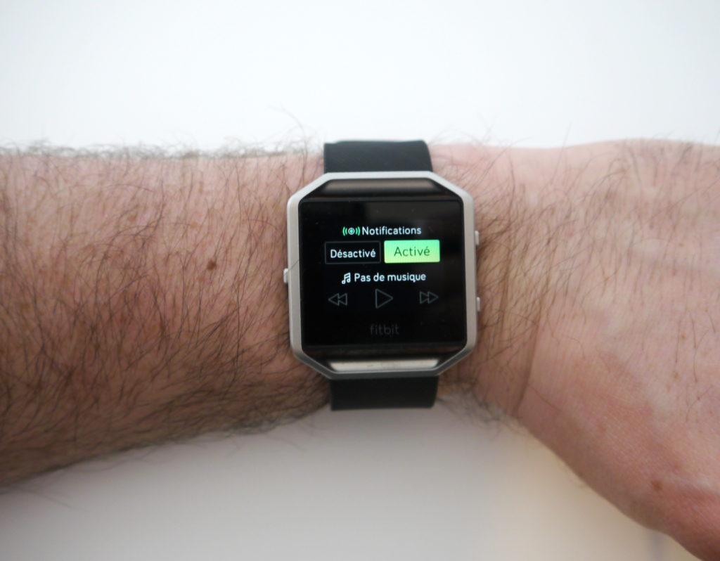 Notifications et musique sur le Fitbit Blaze