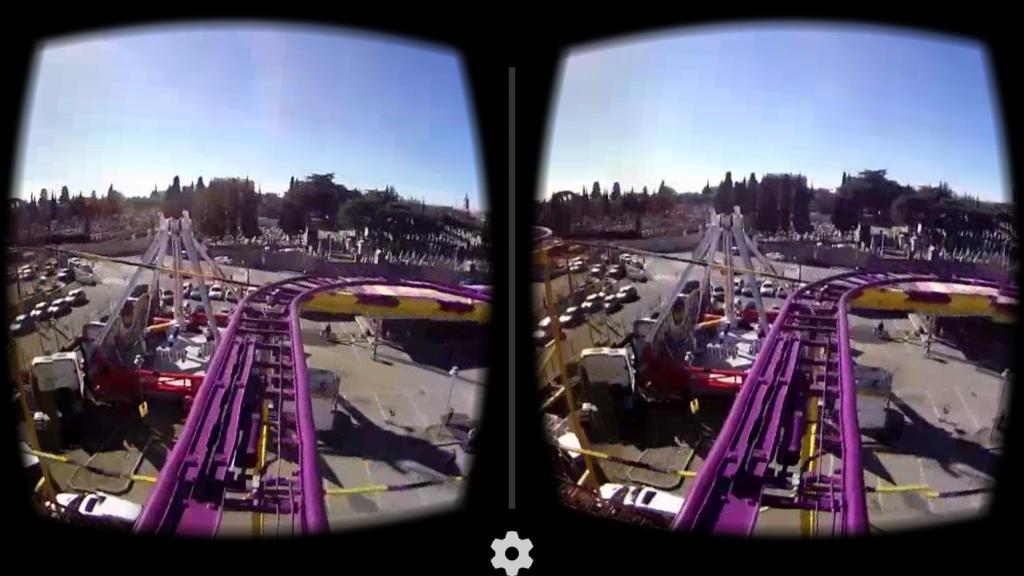 Pour la VR, l'affichage se coupe en deux afin d'envoyer la même image sur chaque lentille.