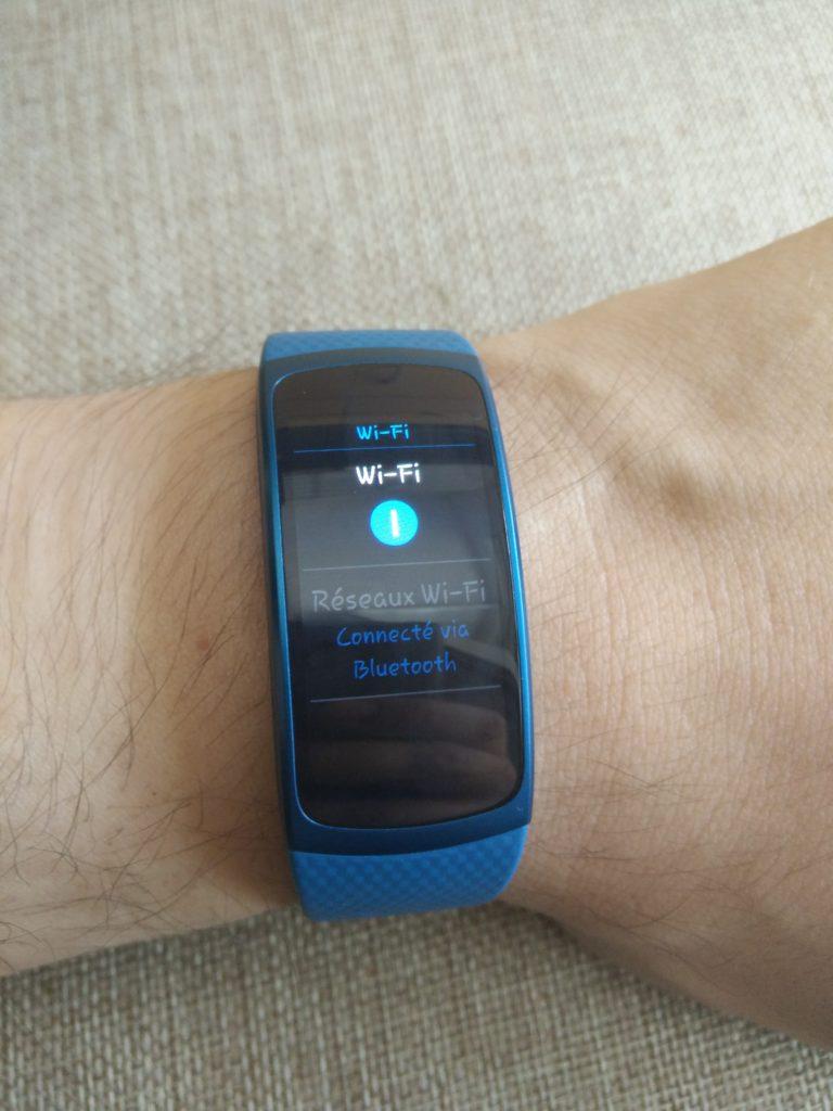 Le Wifi sur la montre Samsung