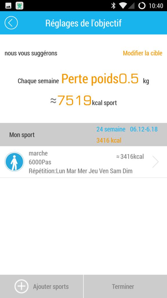 réglages application i5 Plus