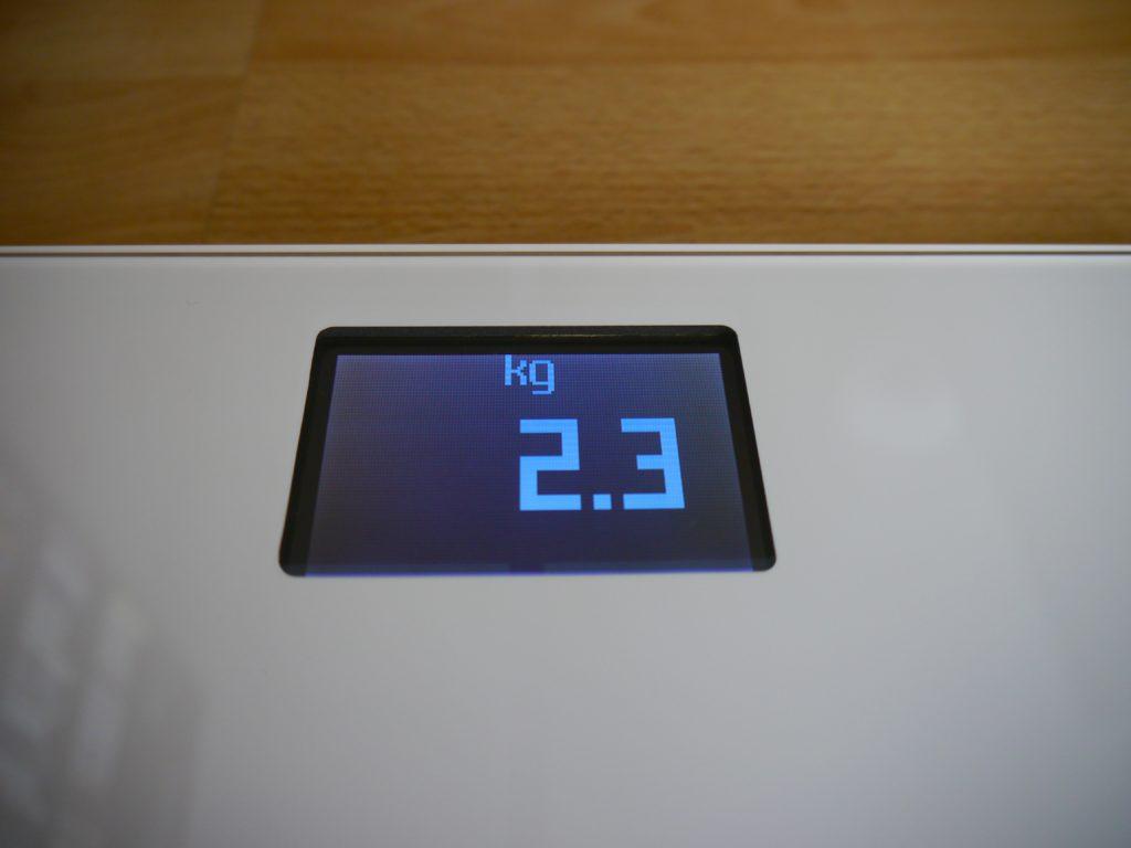 Ecran LCD de la balance Withings Body