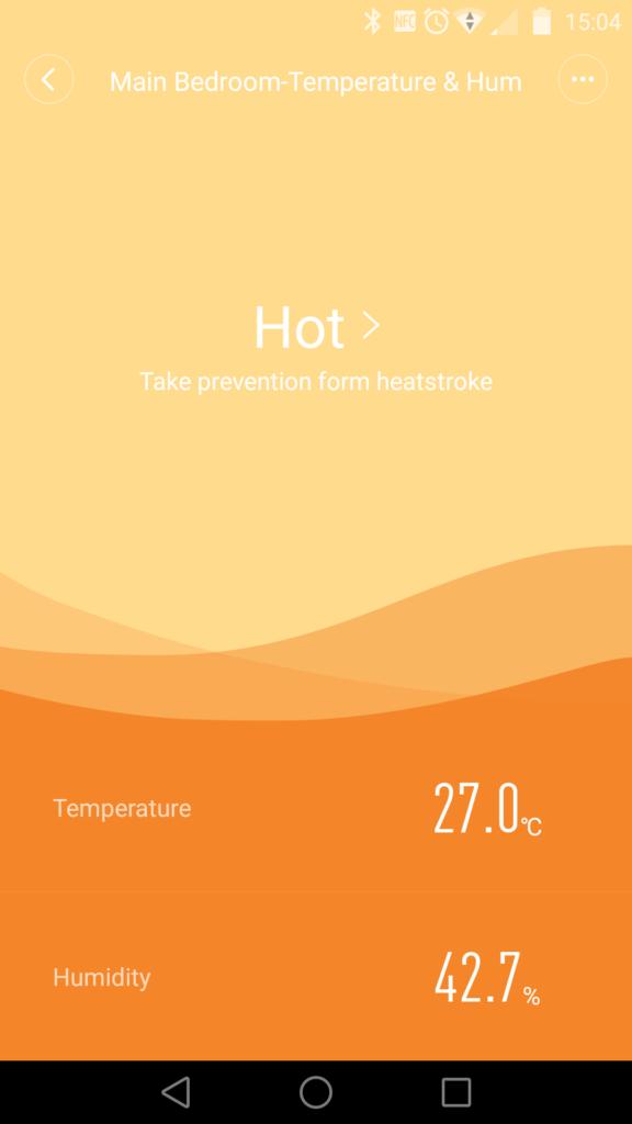 Le menu du thermomètre est à l'image du reste : basique mais fonctionnel.