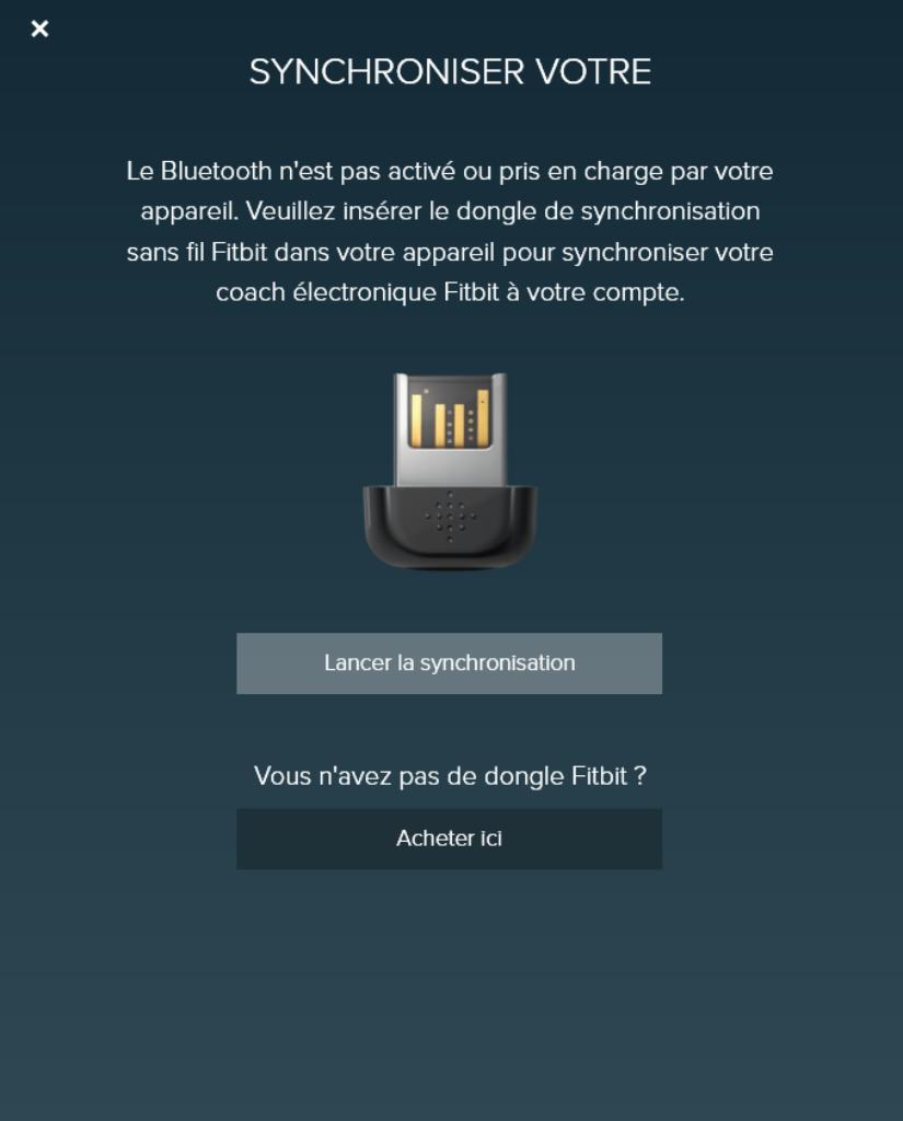 Fitbit Alta dongle sans fil