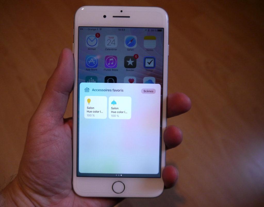 Gestion des lampes sur iPhone