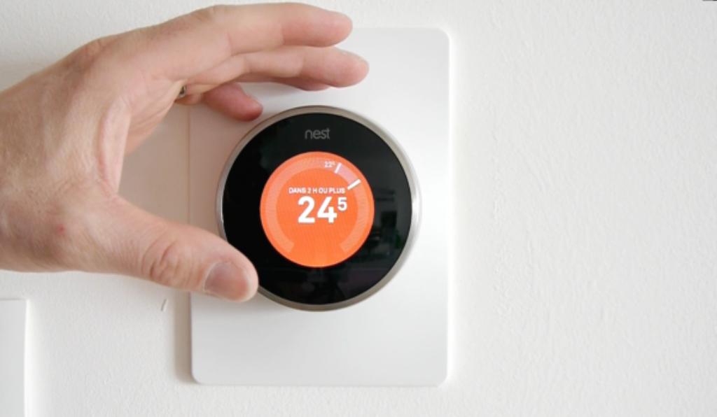 Thermostat Nest de face
