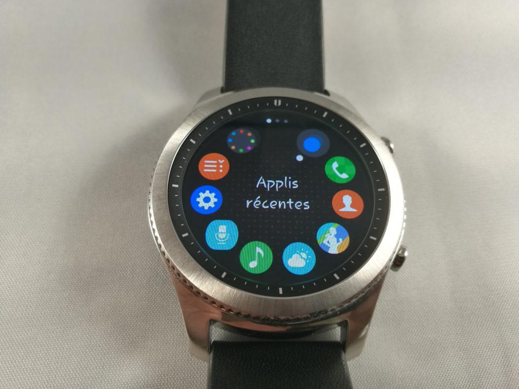 Vos applications installées sont toutes placées dans le menu rapide.
