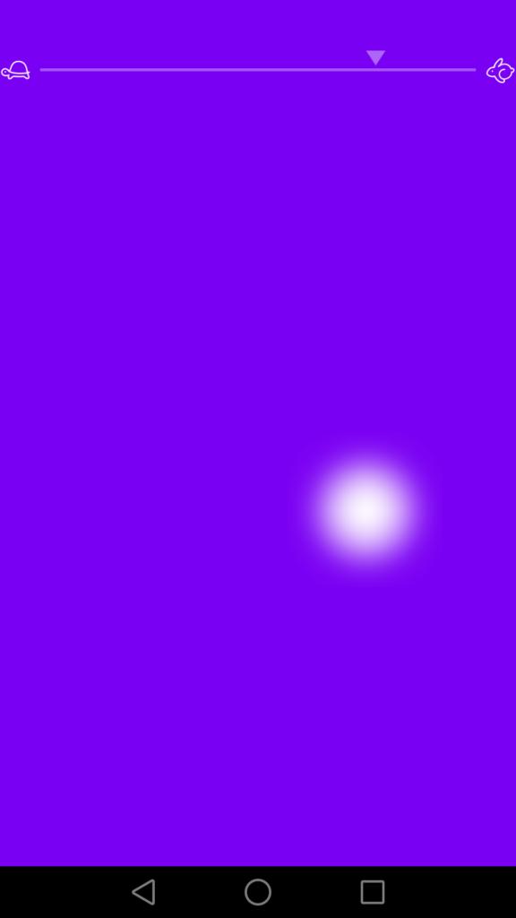 Glissez le doigt en mode Flow pour changer la vitesse des variations de couleur.