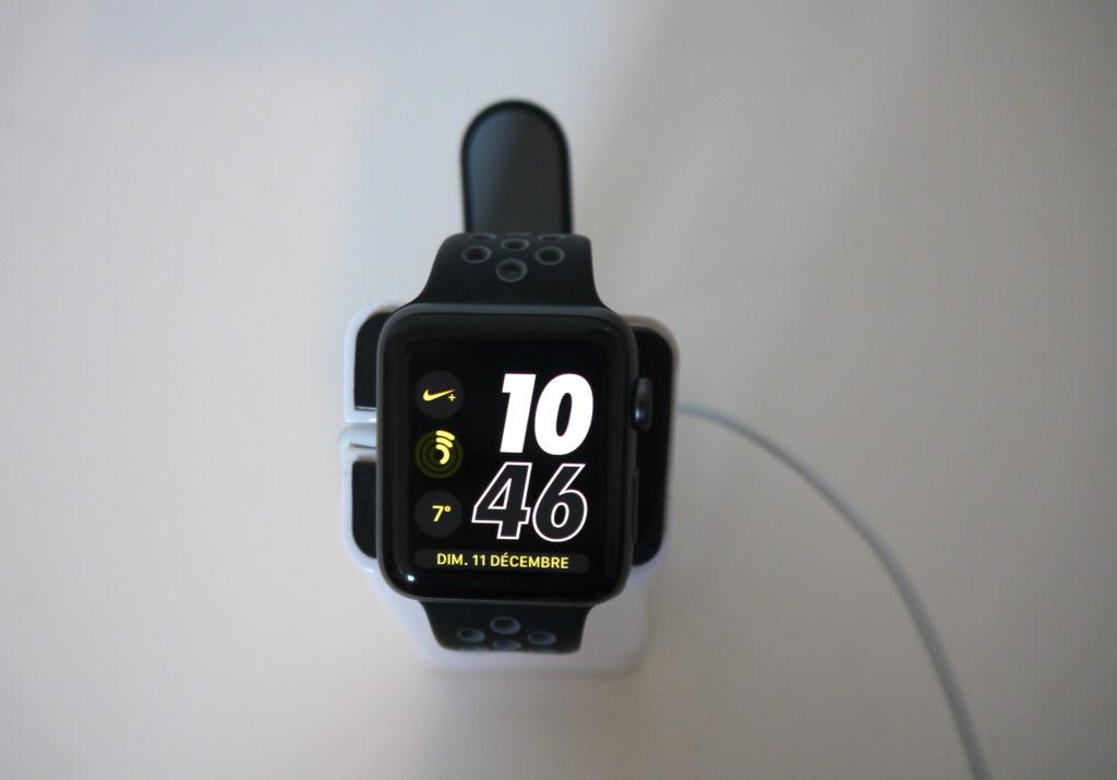 cadran de l'heure sur l'Apple Watch Séries 2