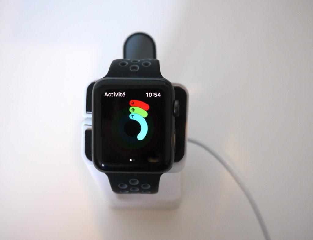 Activité physique de l'Apple Watch Séries 2