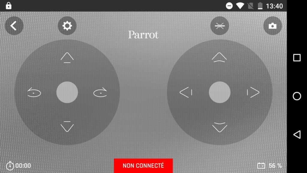 L'application utilise le mode 2. Il est possible de passer en mode 1 ou d'utiliser le gyroscope du smartphone