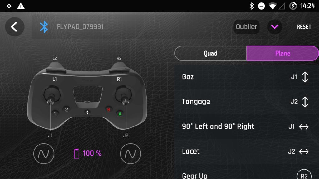 Les contrôles changent légèrement quand on passe au mode avion.