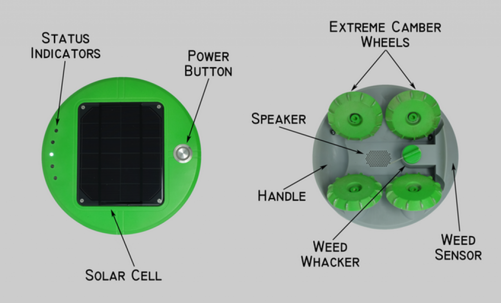 Composants robot Tertill