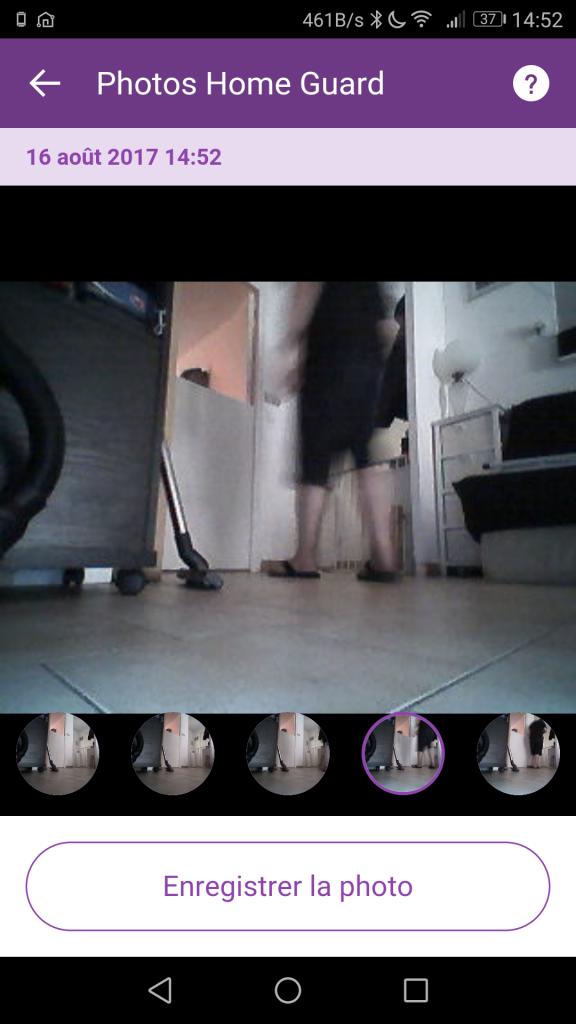 LG Hom-Bot capture mouvement
