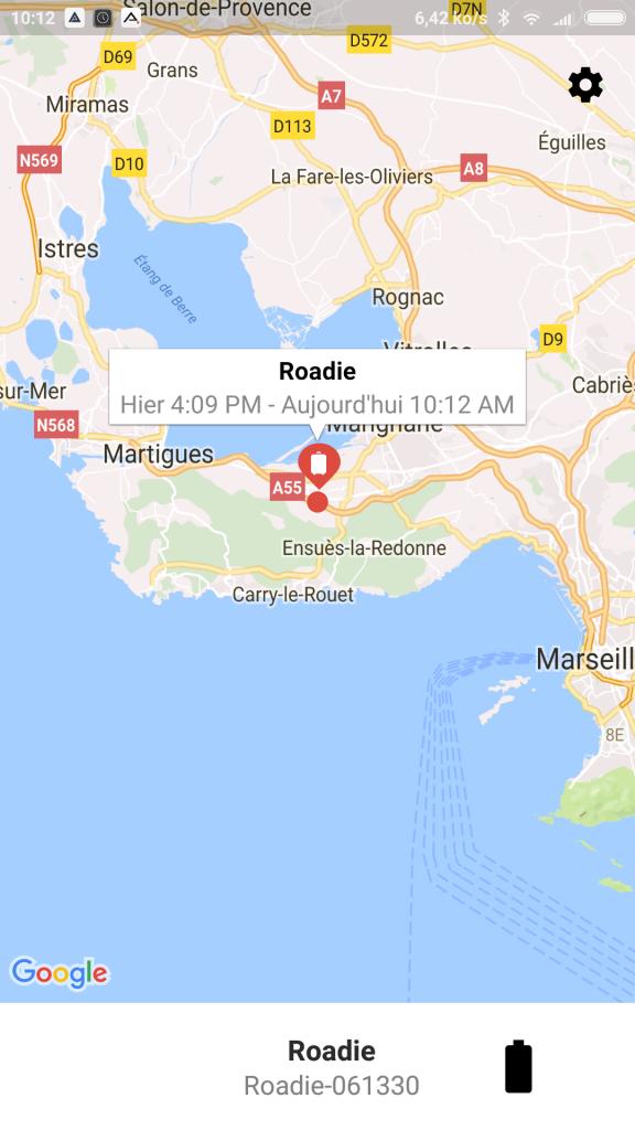 Application Roadie GPS