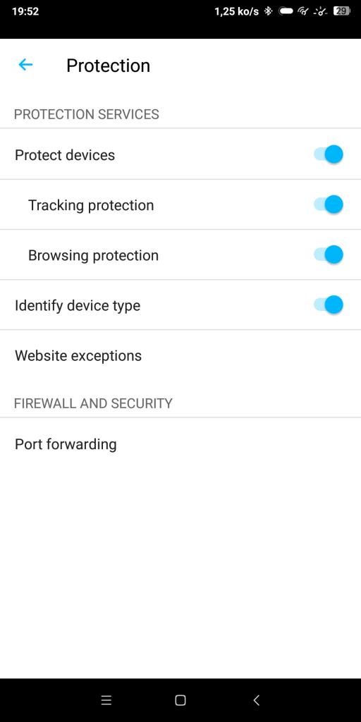 Protection application Sense F-Secure