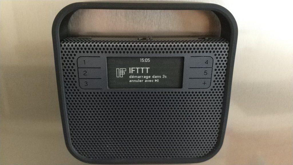 Action IFTTT sur radio Triby