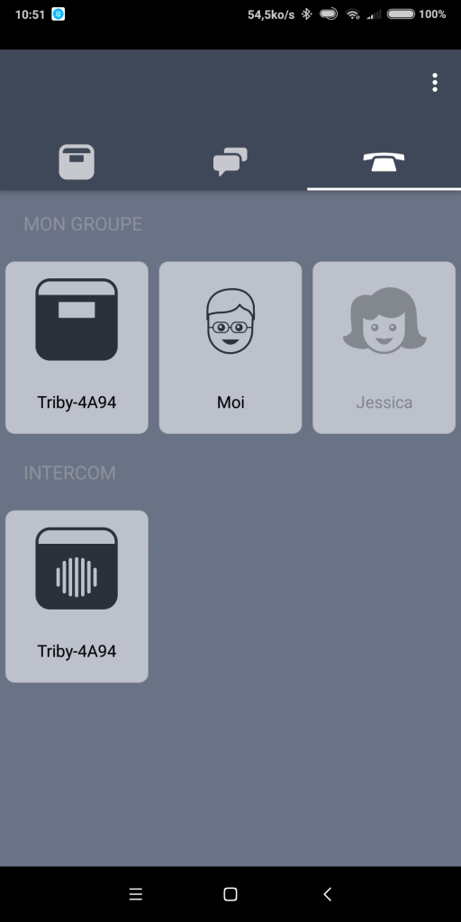 Appel VOIP Triby