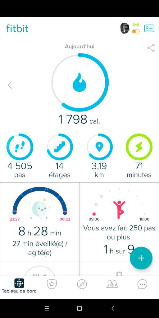 Application Fitbit Android