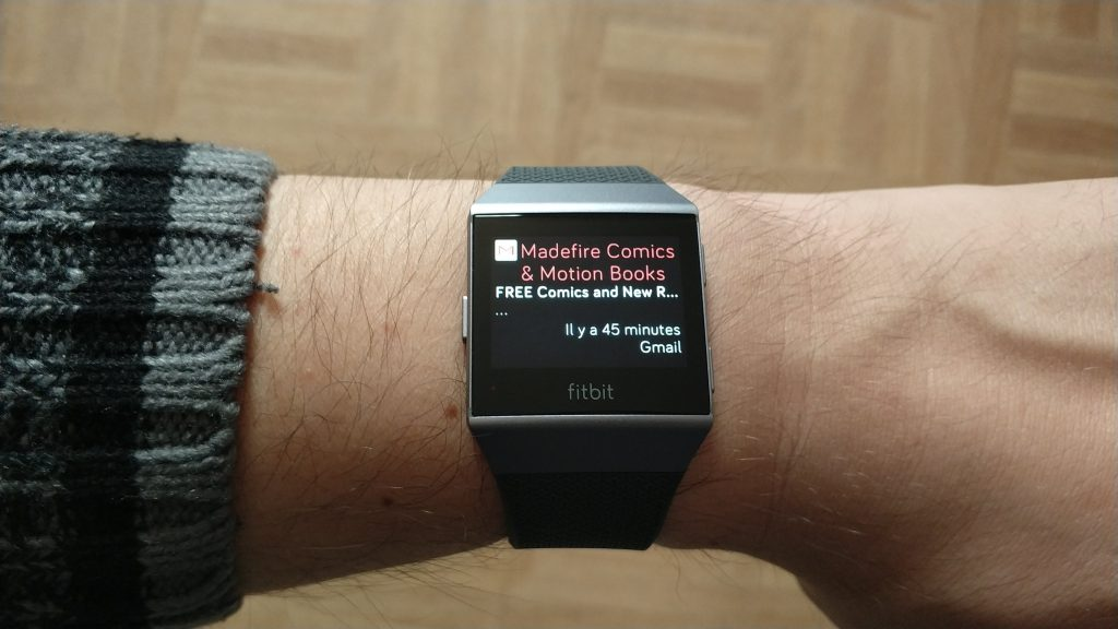 Notification GMail sur Fitbit Ionic