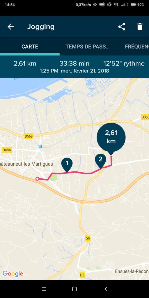 Suivi GPS montre connectée Fitbit