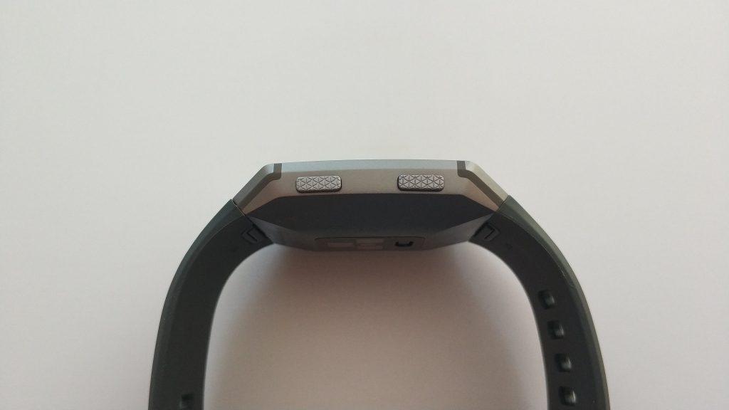 Vue de côté boutons physiques Ionic