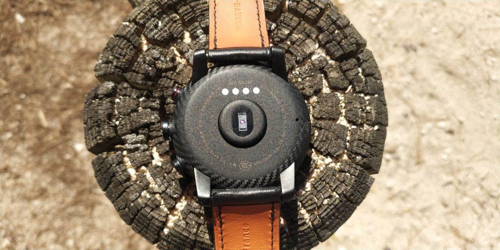 Dos montre connectée Amazfit Stratos
