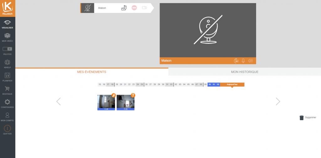 Interface Web Kiwatch
