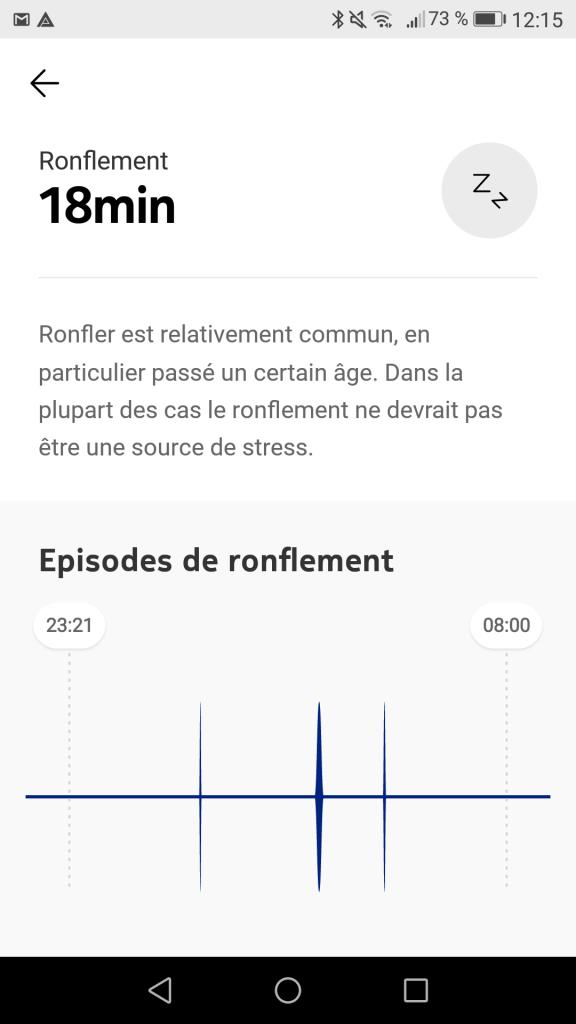 Capture ronflements Nokia Sleep