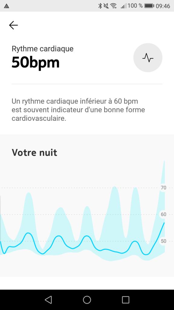 Rythme cardiaque Nokia Sleep