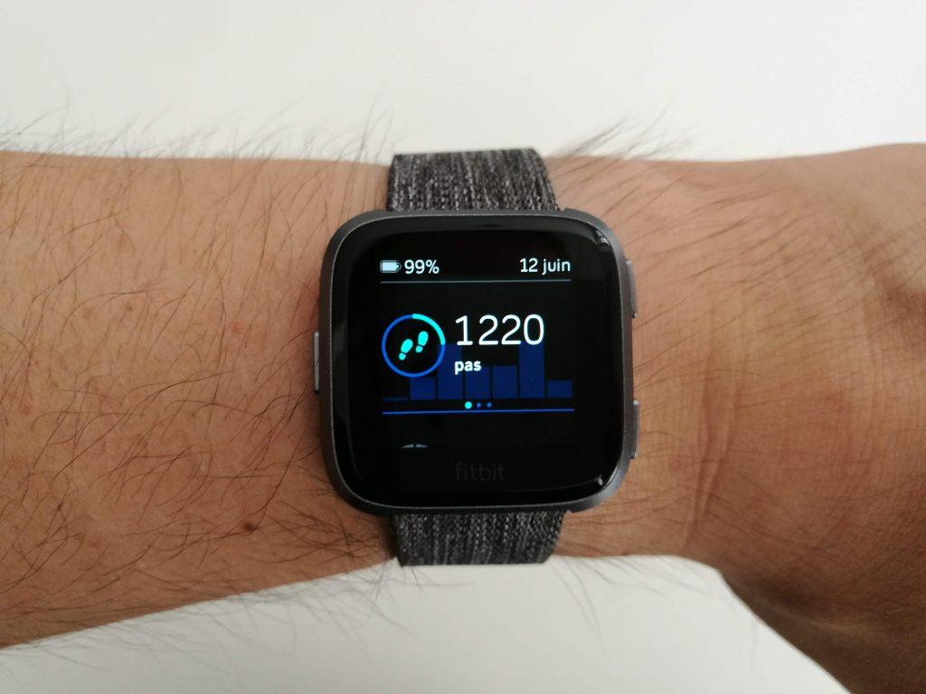 Données physiques montre sport Fitbit