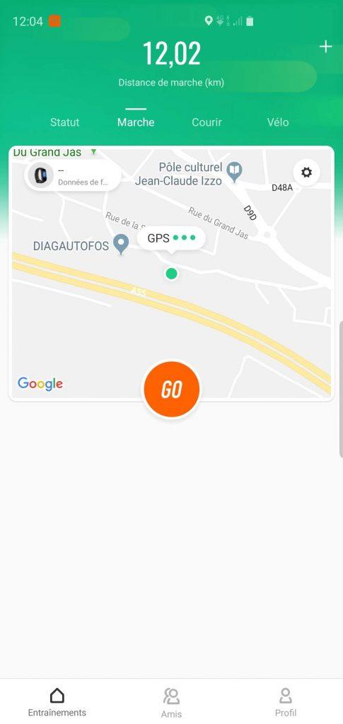 Suivi marche application MiFit