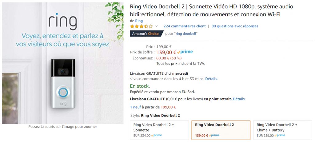 Ring Doorbell Prime Day