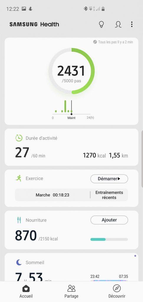 Applications Samsung Health