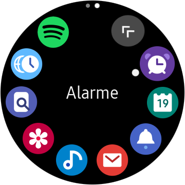 Applications montre Samsung