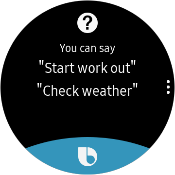 Bixby sur Galaxy Watch Active